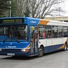 Stagecoach Dennis Dart Plaxton Pointer GX54DWN 34642 at Northampton North Gate bus station on the X10 to Kettering, 21.02.2018.