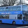 """Electric Blue 22"" branded Ensignbus Volvo Wright Eclipse Gemini EU62BYR 505 in Grays, 17.02.2018."