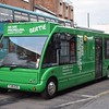 """Macmillan Cancer Support mobile support bus Optare Solo YJ10EZU """"Bertie"""" leaving High Wycombe, 05.02.2018."""
