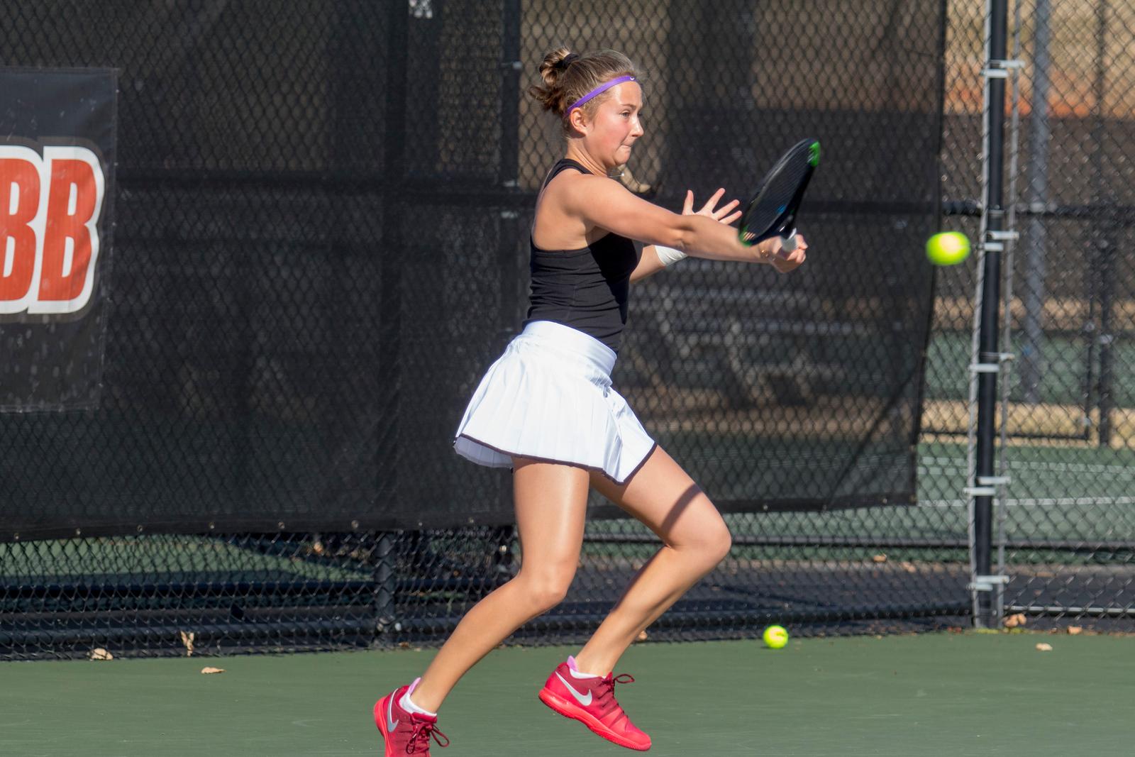 GWU Women's Tennis vs Limestone Feb 2018