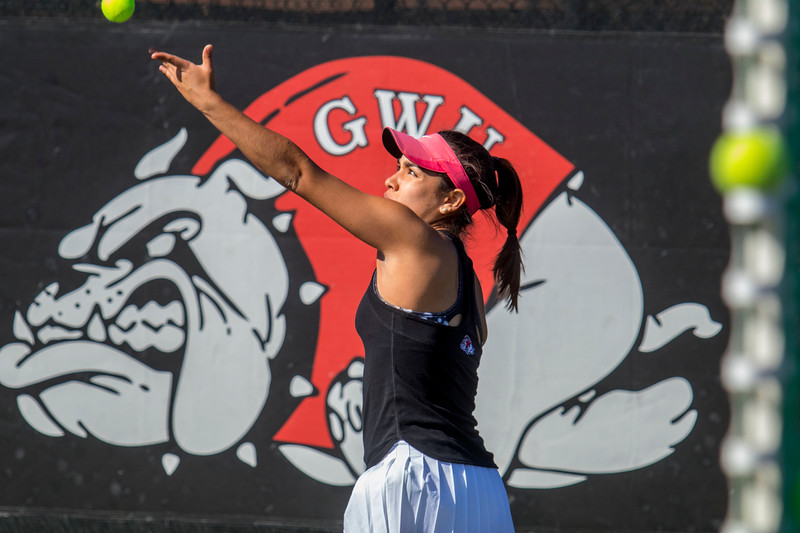 GWU Women's Tennis vs Limestone Feb 2018