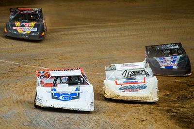 Jonathan Davenport (49), Zack Dohm (17), Trevor Landrum (18L) and Eric Wells (18)