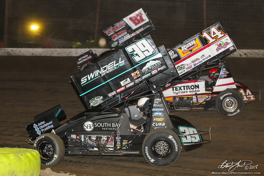 PA Sprint Car Speedweek - Grandview Speedway - 39B Christopher Bell,14 Tony Stewart, 87 Aaron Reutzel