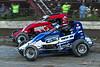 Jesse Hockett Classic - USAC AMSOIL National Sprint Car Championship - Grandview Speedway - 20 Thomas Meseraull, 7 Tim Buckwalter