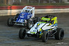 Jesse Hockett Classic - USAC AMSOIL National Sprint Car Championship - Grandview Speedway - 99 Brady Bacon, 18 Jarett Andretti