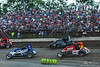Jesse Hockett Classic - USAC AMSOIL National Sprint Car Championship - Grandview Speedway - 20 Thomas Meseraull, B1 Joey Biasi, 30 CJ Leary