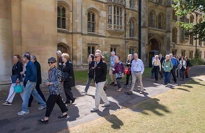 Walking through Cambridge