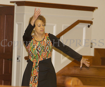 Linda Molina offers a Liturgical Dance as Bethel Missionary Baptist Church hosted the 30th Annual Martin Luther King, Jr. Community Commemorative Service on Sunday, January 14, 2018. Hudson Valley Press/CHUCK STEWART, JR.