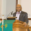 Pastor Edward L. Hunt offers remarks as Bethel Missionary Baptist Church hosted the 30th Annual Martin Luther King, Jr. Community Commemorative Service on Sunday, January 14, 2018. Hudson Valley Press/CHUCK STEWART, JR.