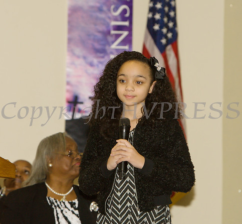 Miss Madison Bishop offers a musical selection for the Dutchess County African American Clergy Association's 49th Annual Commemorative Service on Sunday, January 14, 2018 at Beulah Baptist Church in Poughkeepsie, NY. Hudson Valley Press/CHUCK STEWART, JR.