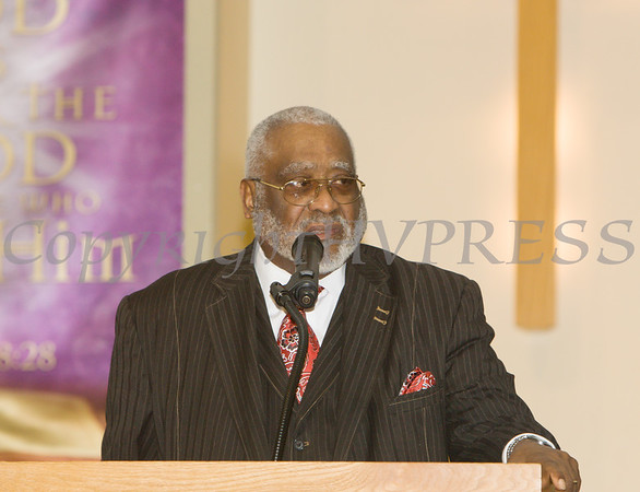 Rev. Dr. Jesse Bottoms offers the Closing Remarks for the Dutchess County African American Clergy Association's 49th Annual Commemorative Service on Sunday, January 14, 2018 at Beulah Baptist Church in Poughkeepsie, NY. Hudson Valley Press/CHUCK STEWART, JR.