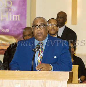 Rev. Dr. Ronald Perry offers the Scripture Reading for the Dutchess County African American Clergy Association's 49th Annual Commemorative Service on Sunday, January 14, 2018 at Beulah Baptist Church in Poughkeepsie, NY. Hudson Valley Press/CHUCK STEWART, JR.