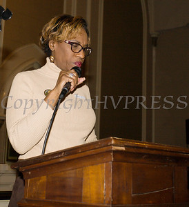 Lady McClymore offers a musical selection as the Black History Committee of the Hudson Valley held its 49th Annual Martin Luther King Jr Celebration on Monday, January 15, 2018 at First United Methodist Church in Newburgh, NY. Hudson Valley Press/CHUCK STEWART, JR.