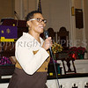 Rev. Nettie Womack presented information on breast cancer awareness as the Black History Committee of the Hudson Valley held its 49th Annual Martin Luther King Jr Celebration on Monday, January 15, 2018 at First United Methodist Church in Newburgh, NY. Hudson Valley Press/CHUCK STEWART, JR.