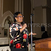 Gabreille Hill offers greetings as the Black History Committee of the Hudson Valley held its 49th Annual Martin Luther King Jr Celebration on Monday, January 15, 2018 at First United Methodist Church in Newburgh, NY. Hudson Valley Press/CHUCK STEWART, JR.