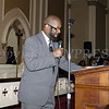 Black History Committee of the Hudson Valley Vice President Bishop Terry Dorsey offer remarks during the 49th Annual Martin Luther King Jr Celebration on Monday, January 15, 2018 at First United Methodist Church in Newburgh, NY. Hudson Valley Press/CHUCK STEWART, JR.