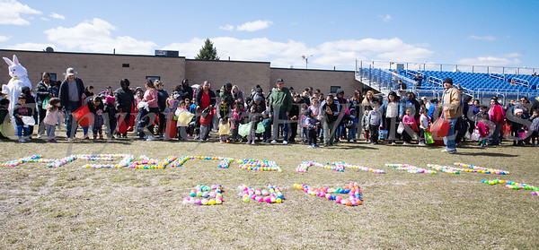 Anxious children line up as We Are Newburgh and the City of Newburgh held the Annual Easter Egg Hunt at the Activity Center on Saturday, March 24, 2018. Hudson Valley Press/CHUCK STEWART, JR.