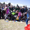Children gather up plastic eggs filled with goodies as We Are Newburgh and the City of Newburgh held the Annual Easter Egg Hunt at the Activity Center on Saturday, March 24, 2018. Hudson Valley Press/CHUCK STEWART, JR.
