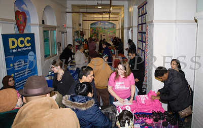 Those who braved the cold received plenty of useful information from contributors at the Hudson River HealthCare sponsored Three Kings Day celebration on Saturday, January 6, 2017 at the Family Partnership Center in Poughkeepsie, NY. Hudson Press/CHUCK STEWART, JR.