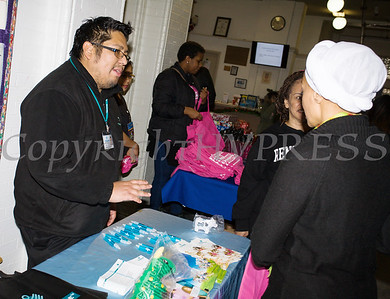 Those who braved the cold received plenty of useful information from contributors,like Fidelis Care New York, at the Hudson River HealthCare sponsored Three Kings Day celebration on Saturday, January 6, 2017 at the Family Partnership Center in Poughkeepsie, NY. Hudson Press/CHUCK STEWART, JR.