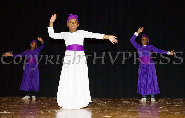 Young Spiritual Dancers from A Touch of Faith Ministry Church, performed as part of the Hudson River HealthCare sponsored Three Kings Day celebration on Saturday, January 6, 2017 at the Family Partnership Center in Poughkeepsie, NY. Hudson Press/CHUCK STEWART, JR.
