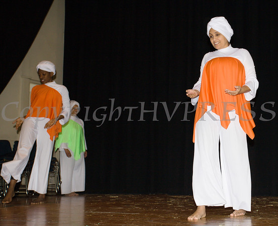 Prayer Dancers, Salem Dance Ministry, performed as part of the Hudson River HealthCare sponsored Three Kings Day celebration on Saturday, January 6, 2017 at the Family Partnership Center in Poughkeepsie, NY. Hudson Press/CHUCK STEWART, JR.