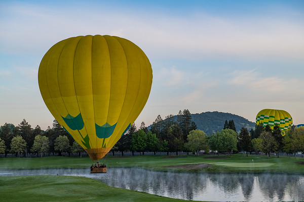 Sunrise Hot Air Balloon ride in Yountville, CA!  Thanks to Sammi's parents for treating us to the ride!