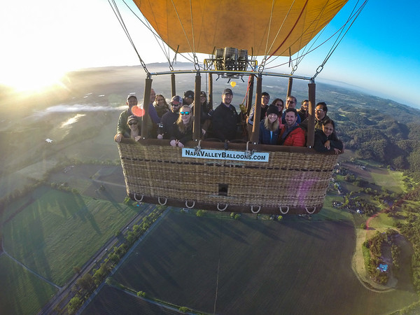 GoPro footage of our trip on the Hot Air Balloon in Napa.  The balloon people had the GoPro hanging on a rope, looking back at us so we could get some photos of us in the balloon!