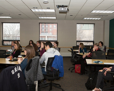 Attendees at the Bolz Center Lunch & Learn with Stuart Flack.