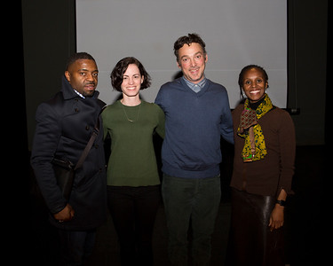 Left to right: Faisal Abdu'Allah, Kate Croby, guest artist Fleeta Chew Siegel, and Dr. S. Ama Wray