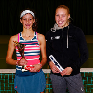 05a Finalists girls - ITF Heiveld junior indoor open 2018