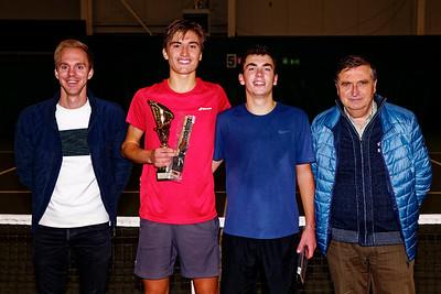 06 Finalists boys - ITF Heiveld junior indoor open 2018