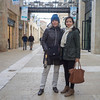 Shelley and Li in Mamilla, a 21st century shopping emporium outside of the walls of the Old City