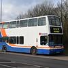 Z&S Dennis Trident Plaxton President LR02BBZ (ex Metroline TPL283) at Heelands, Milton Keynes, between route 609 workings, 18.01.2018.