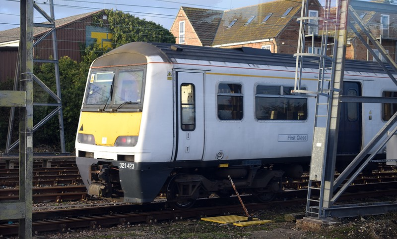 Greater Anglia Class 321 no. 321423 at Clacton-on-Sea, 03.01.2018.