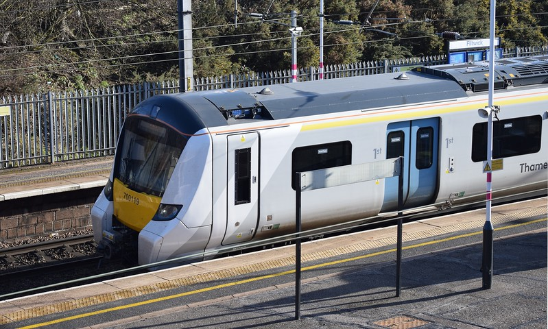 Thameslink Class 700 Desiro City no. 700119 at Flitwick on a Bedford service, 19.01.2018.