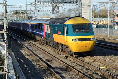 18 January 2018 :: Inert City 125 43002 passes Didcot while leading 1A12, the 0748 from Paignton to Paddington