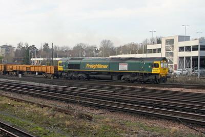 66524 Basingstoke 03/01/18 6V27 Eastleigh to Hinksey