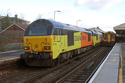 67023 Basingstoke 18/01/18 0Z73 Eastleigh to Derby RTC with 67027