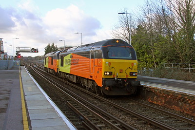 67027 Basingstoke 18/01/18 0Z73 Eastleigh to Derby RTC with 67023