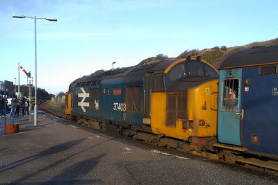 37403 'Isle of Mull' awaits departure from Whitehaven with Northern's 2C45 1138 Barrow -Carlisle service (20/01/2018)