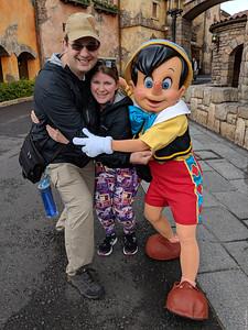 Greeting Pinocchio