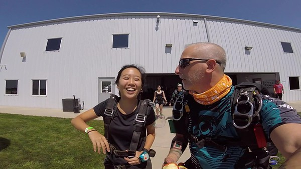 1517  Lilly Guo  Skydive at Chicagoland Skydiving Center 20180707 Chris  Chris