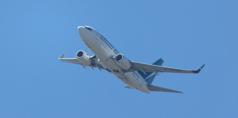 WestJet Boeing 737 C-GCWJ taking off from John Wayne Orange County Airport, 02.07.2018.