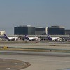 A line up of FedEx McDonnell Douglas MD-11 aircraft at Los Angeles International Airport, 06.07.2018.