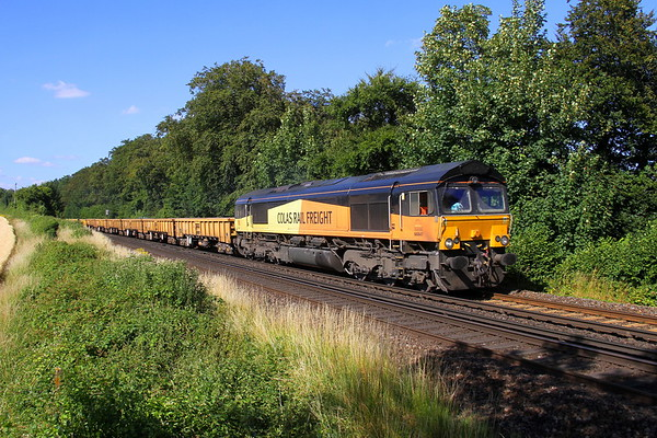 66847 Micheldever 15/07/18 6C01 Nunhead to Eastleigh East Yard