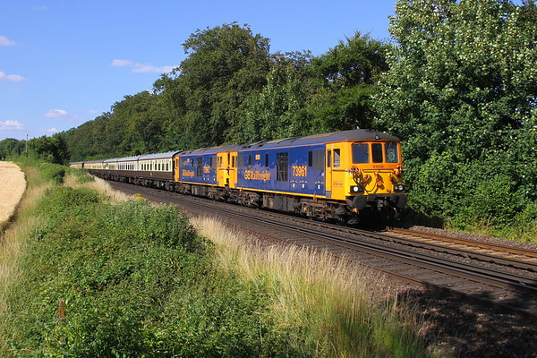 73961 Micheldever 15/07/18 5Z43 Peterborough to Eastleigh with 73963
