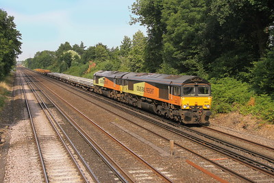66846 Old Basing 20/07/18 6Y48 Eastleigh to Hoo Junction with 66850