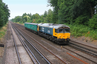66789 Old Basing 20/07/18 5E08 Eastleigh to Doncaster