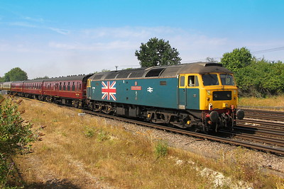 47580 Worting Junction 26/07/18 on the rera of 1Y50 London Victoria to Weymouth